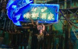 20160213_人鱼躲藏的旧船里有很多酒家招牌